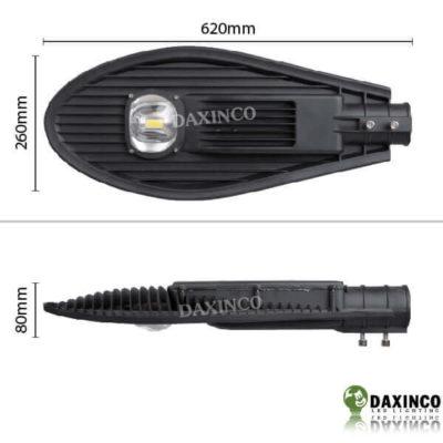 Kích thước Đèn đường led 70w Daxinco kiểu chiếc lá Daxin70-8