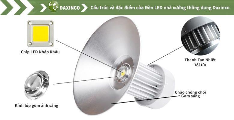 Đèn led nhà xưởng 100w Daxinco kiểu thông dụng Daxin100-11