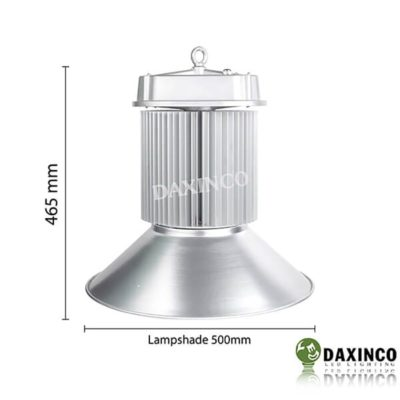 Kích thước Đèn led nhà xưởng 200w Daxinco kiểu Ovan Daxin200-12