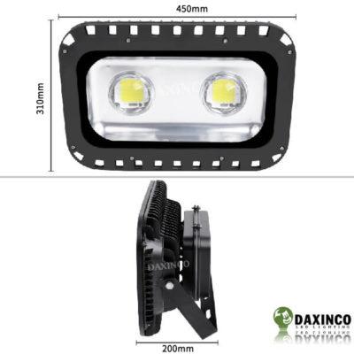 Kích thước đèn pha led 100W Daxinco lúp Daxin100-5