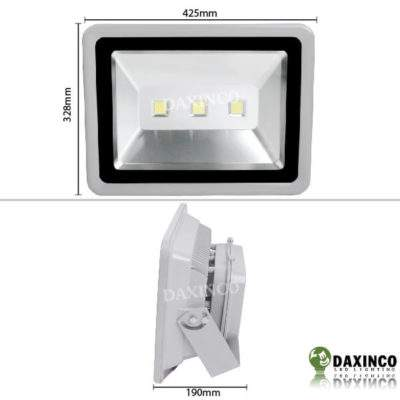 Kích thước Đèn Pha led 150W Daxinco kiểu thông dụng Daxin150-1