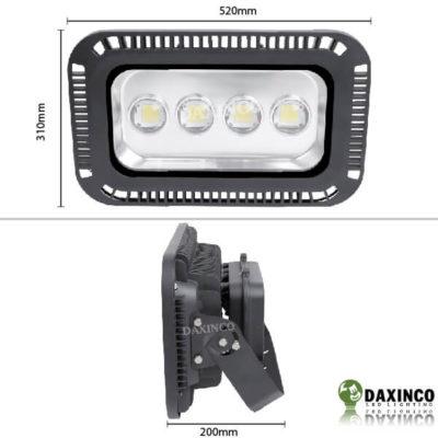 Kích thước Đèn pha led 200W Daxinco lúp Daxin200-5
