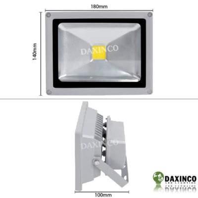 Kích thước Đèn Pha led 20W Daxinco kiểu thông dụng Daxin20-1