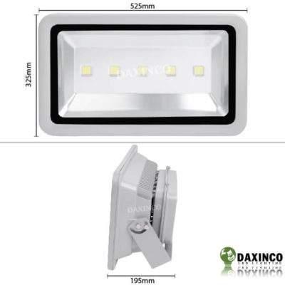 Kích thước Đèn Pha led 250W Daxinco kiểu thông dụng Daxin250-1
