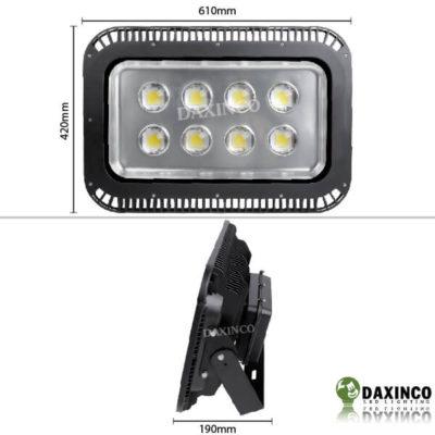 Kích thước đèn pha led 400W Daxinco lúp Daxin400-5