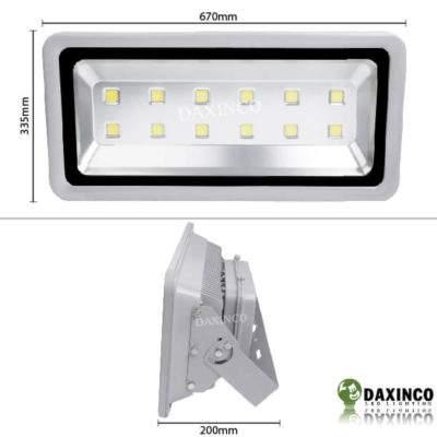 Kích thước Đèn Pha led 400W Daxinco kiểu thông dụng Daxin400-1