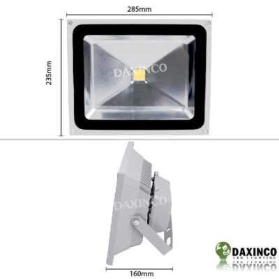 Kích thước Đèn Pha led 50W Daxinco kiểu thông dụng Daxin50-1