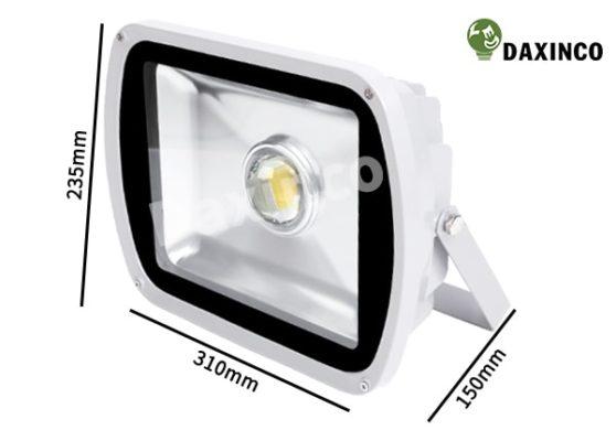 Kích thước đèn pha led 60W Daxinco thông dụng lúp Daxin60-1A