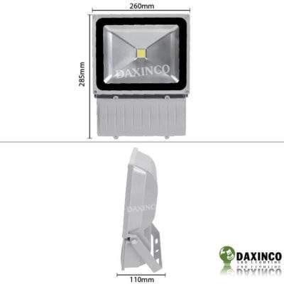 Kích thước Đèn Pha led 70W Daxinco kiểu thông dụng Daxin70-1