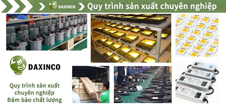 Quy trình sản xuất đèn led Daxinco chuyên nghiệp và nghiêm khắc