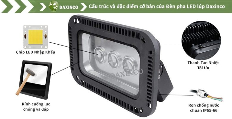 Đèn pha led 150W Daxinco lúp Daxin150-5