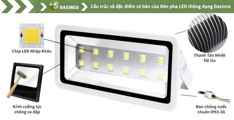 Đèn Pha led 400W Daxinco kiểu thông dụng Daxin400-1
