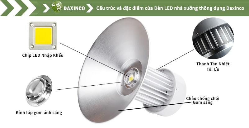 Đèn led nhà xưởng 80w Daxinco kiểu thông dụng Daxin80-11