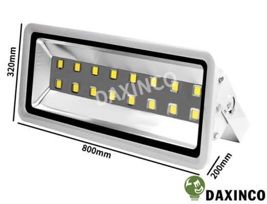 Kích thước Đèn Pha led 500W Daxinco kiểu thông dụng Daxin500-1