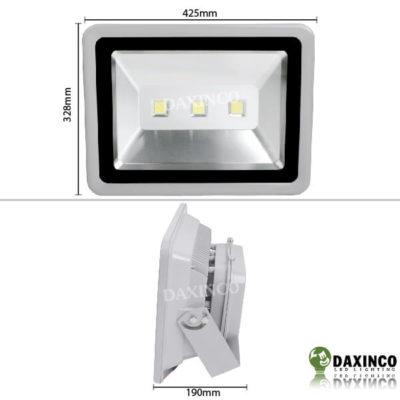 Kích thước Đèn pha LED 150W 12V DC Bình Ắc Quy Daxinco