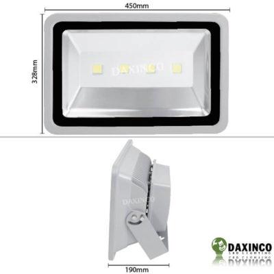Kích thước Đèn pha LED 200W 12V DC Bình Ắc Quy Daxinco