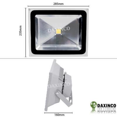 Kích thước đèn pha LED 50W 12-24vdc Daxinco