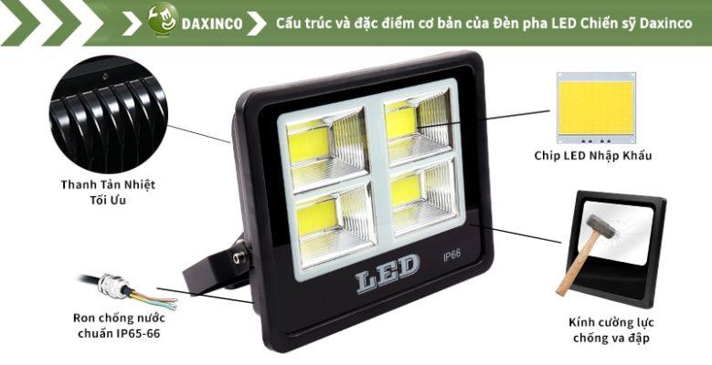 Đèn pha led 150w Daxinco kiểu chiến sỹ Daxin150-18