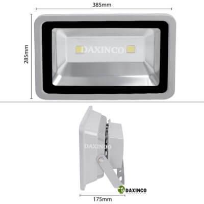 Kích thước Đèn Pha led 120W Daxinco 2 leds kiểu thông dụng Daxin120-1-2Y