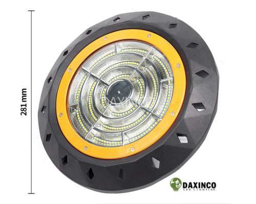Kích thước Đèn led nhà xưởng 200w UFO Daxinco