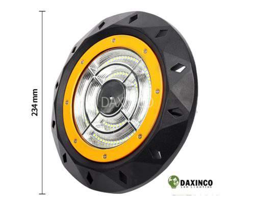 Kích thước Đèn led nhà xưởng 50w UFO Daxinco