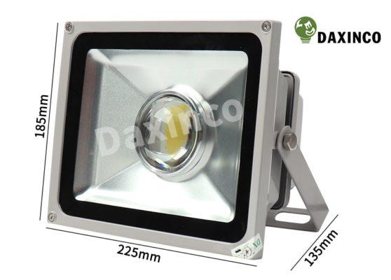 Kích thước đèn pha led 30W Daxinco thông dụng lúp Daxin30-1A