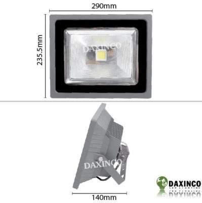 Kích thước đèn pha led 50W Daxinco 360 độ Daxin50-360