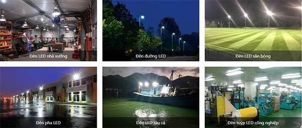 Đèn led nói chung và đèn đường led nói riêng được ứng dụng rất linh hoạt