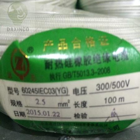 Dây điện chịu nhiệt 2.5mm - Dây điện amiang