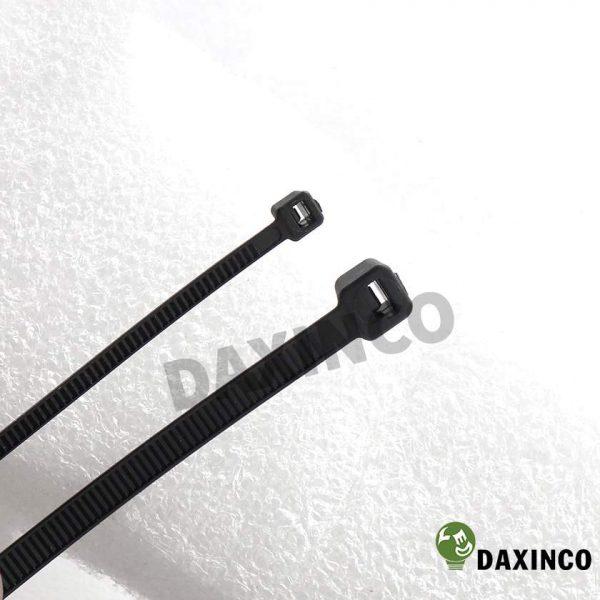 Dây rút nhựa 8x200 đen Daxinco - dây lạc nhựa 2