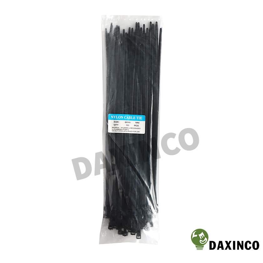Dây rút nhựa 8x300 đen Daxinco - dây lạc nhựa 1