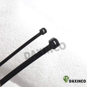 Dây rút nhựa 8x300 đen Daxinco - dây lạc nhựa 2