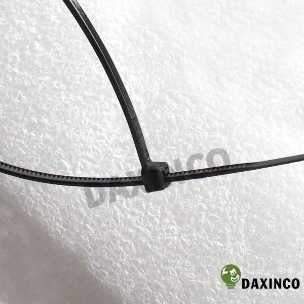 Dây rút nhựa 8x400 đen Daxinco - dây lạc nhựa 2