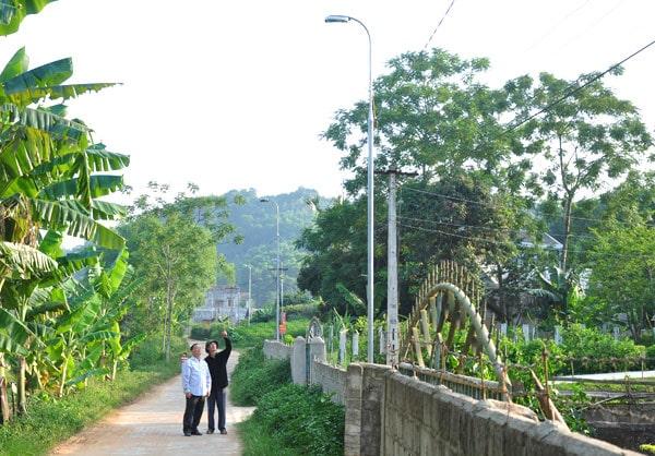 Đèn đường led 30w ở vùng nông thôn mới