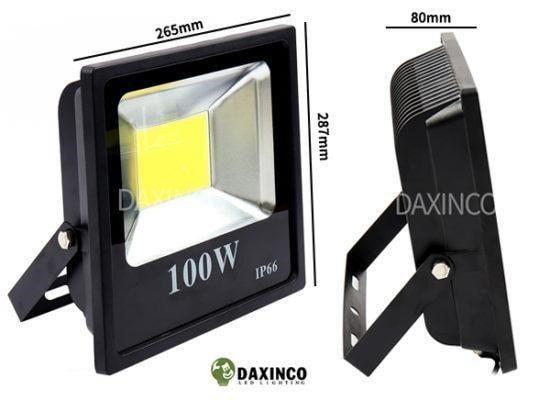 Đèn pha led 100W Daxinco có kích thước siêu gọn