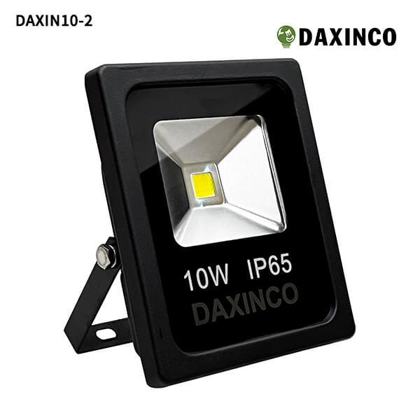 Đèn pha led 10W Daxinco kiểu dẹp đen Daxin10-2 1