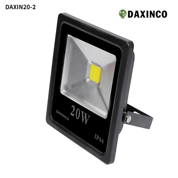Đèn pha led 20W Daxinco kiểu dẹp đen Daxin20-2 1