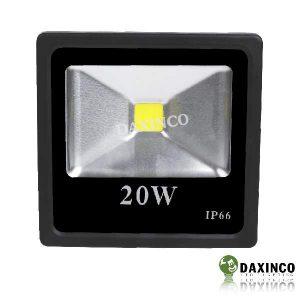 Đèn pha led 20W Daxinco kiểu dẹp đen Daxin20-2 2