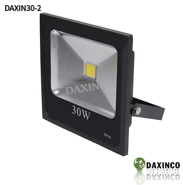 Đèn pha led 30W Daxinco kiểu dẹp đen Daxin30-2 1