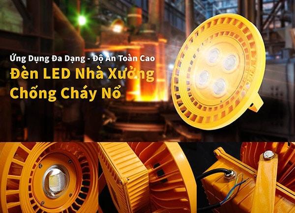 Ứng dụng đa dạng với đèn LED nhà xưởng chống cháy nổ Daxinco