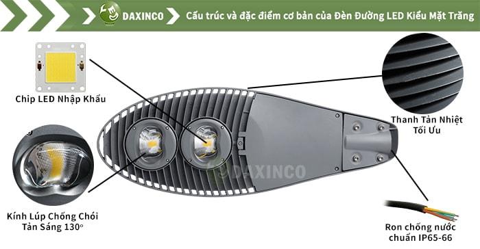 Đèn đường led 100W kiểu mặt trăng Daxinco Daxin100-10