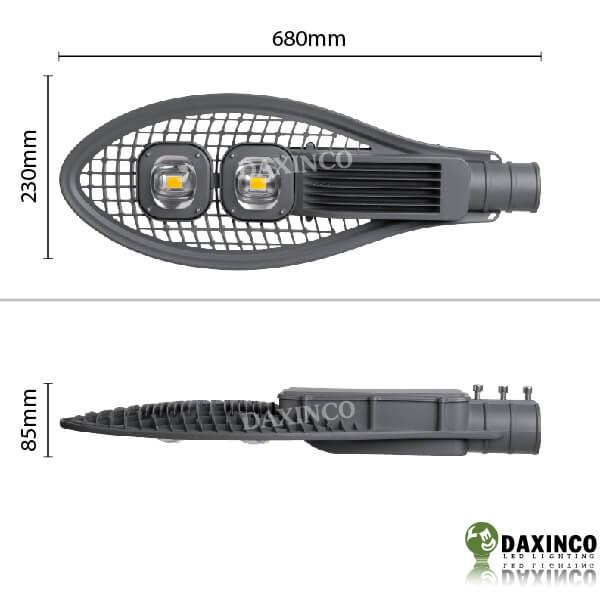 Kích thước Đèn đường led 100W Daxinco kiểu lưới Daxin100-7
