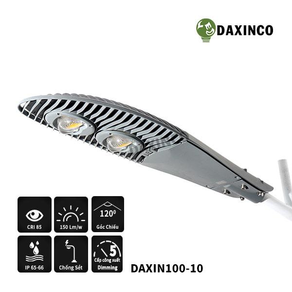 Đèn đường led 100w Daxinco kiểu mặt trăng-cv