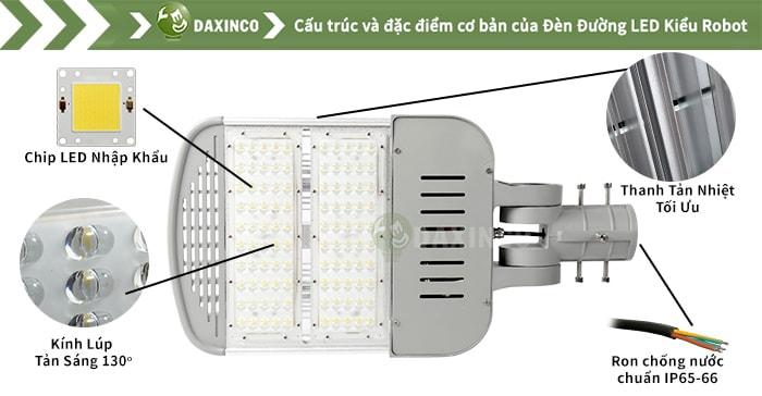 Đèn đường led 67W Daxinco kiểu robot Dx67-15