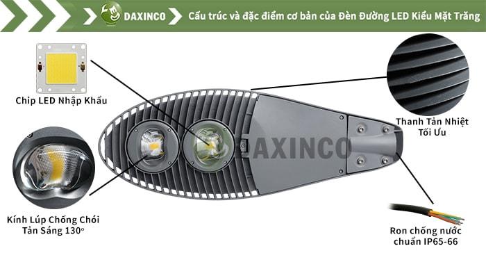 Đèn đường led 120W kiểu mặt trăng Daxinco Daxin120-10