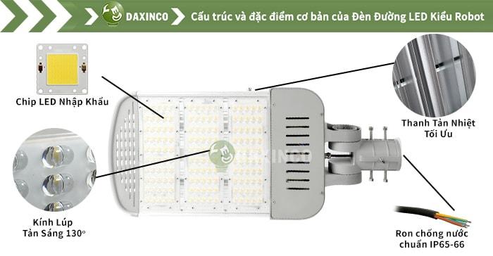 Đèn đường led 130W -150W - 165W - 170W Daxinco kiểu robot Daxin130-15