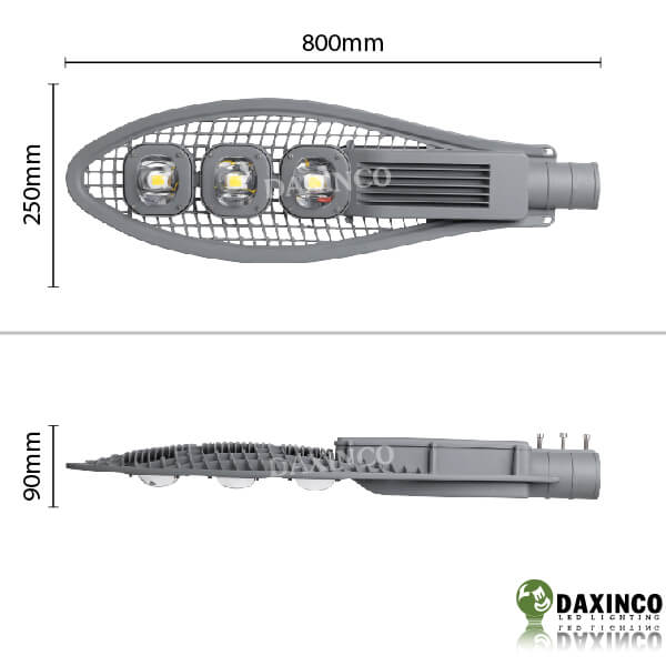 Kích thước đèn đường led 150W Daxinco kiểu lưới Daxin150-7