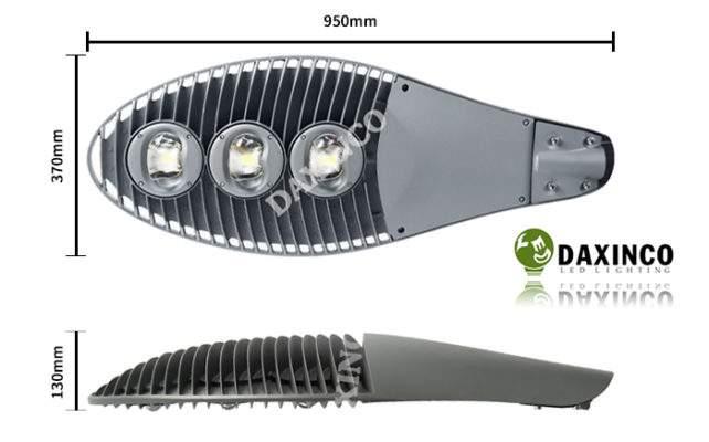 Kích thước đèn đường led 150W kiểu mặt trăng Daxinco Daxin150-10