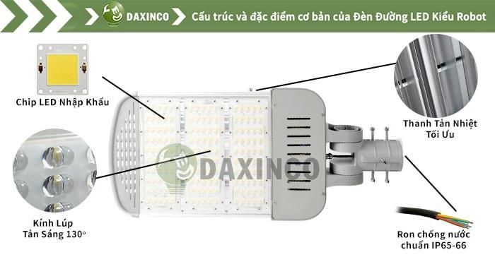 Đèn đường led 175W- 185W Daxinco kiểu robot Daxin150-15