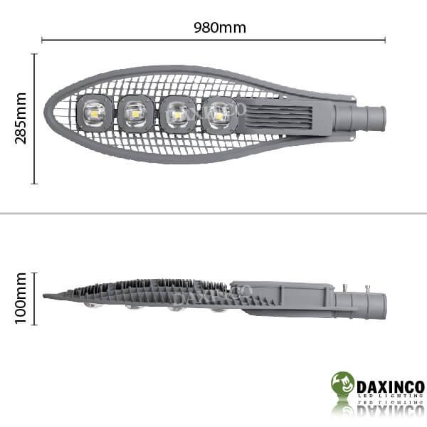 Kích thước đèn đường led 200W Daxinco kiểu lưới Daxin200-7